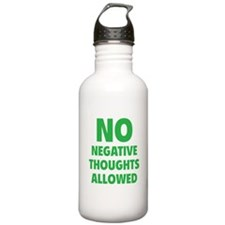 NO Negative Thoughts Allowed Sports Water Bottle