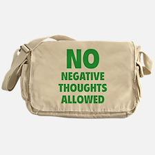 NO Negative Thoughts Allowed Messenger Bag