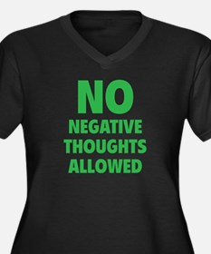 NO Negative Thoughts Allowed Women's Plus Size V-N