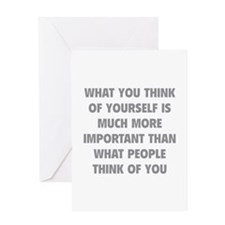 Think Of Yourself Greeting Card