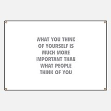 Think Of Yourself Banner