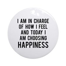 Happiness Ornament (Round)