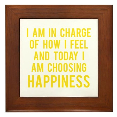 Happiness Framed Tile