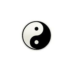 Yin and Yang Mini Button (100 pack)
