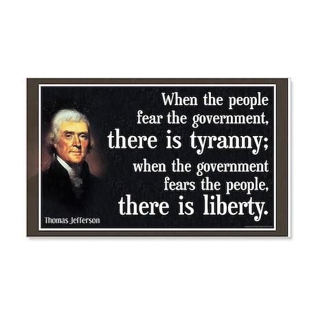 Jefferson: Liberty vs. Tyranny 20x12 Wall Peel