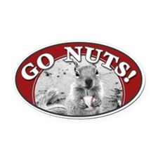 GO NUTS oval Rally Squirrel Oval Car Magnet