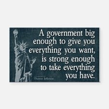 Jefferson: government big enough to... Rectangle C