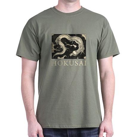 Hokusai Dragon Dark T-Shirt