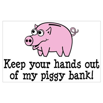 Keep your hands out of my pig Canvas Art
