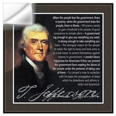 Jefferson: Liberty vs. Tyrann Wall Decal