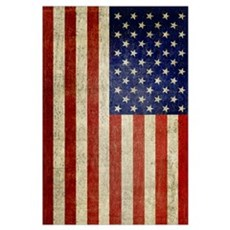 Distressed Flag v2 Framed Print