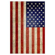 Distressed Flag v2 Poster