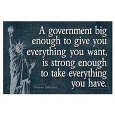 Jefferson: government big enough to... Small Poste Framed Print