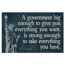 Jefferson: government big enough to... Small Poste Poster