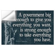 Jefferson: government big enough to... Small Poste Wall Decal