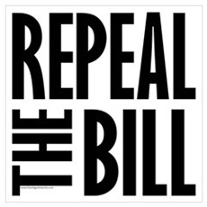 REPEAL the BILL Canvas Art