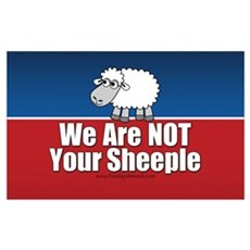 We Are NOT Sheeple Poster