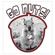 RALLY SQUIRREL Go Nuts St Louis Wall Art Canvas Art