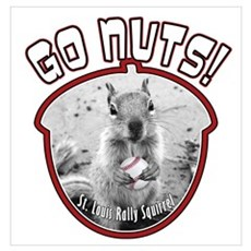RALLY SQUIRREL Go Nuts St Louis Wall Art Poster