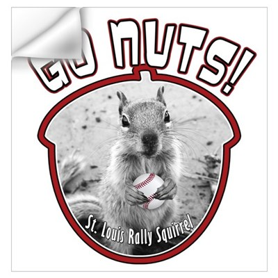 RALLY SQUIRREL Go Nuts St Louis Wall Art Wall Decal