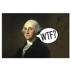 George WTF Framed Print