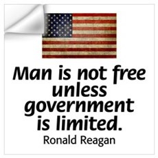 Man is not free unless... Wall Decal