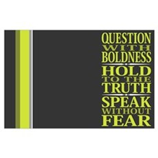 Question With Boldness Poster