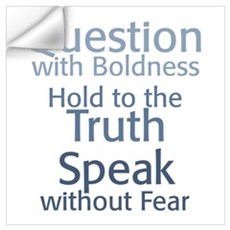 Question Speak Truth Wall Decal