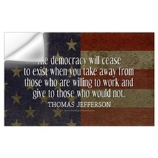 Jefferson Democracy Quote 2 Wall Decal
