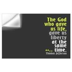 Jefferson: The God who gave u Wall Decal
