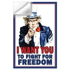 I WANT YOU to fight for Freed Wall Decal