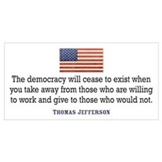 Jefferson: Democracy will cea Framed Print