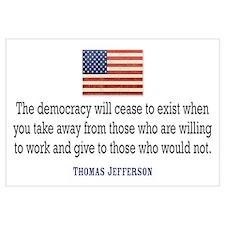 Jefferson: Democracy will cea