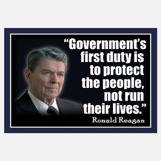 REAGAN: Government's first duty... QUOTE Small Pos
