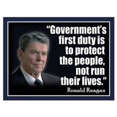 REAGAN: Government's first duty... QUOTE Small Pos Canvas Art