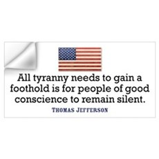 Jefferson Quote on Tyranny Wall Decal