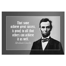 Abe Lincoln Quote on Success Wall Art Framed Print