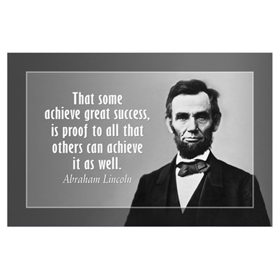 Abe Lincoln Quote on Success Wall Art Poster
