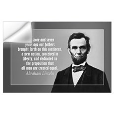 Abe Lincoln - Gettysburg Address Wall Art Wall Decal