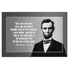 Abe Lincoln - Gettysburg Address Wall Art