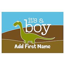 ADD NAME - Its a Boy Wall Art Poster