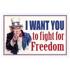 I WANT YOU to fight for Freed Poster
