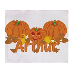 Halloween Pumpkin Arthur Throw Blanket