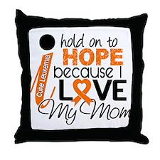 Hope For My 1 Leukemia Throw Pillow