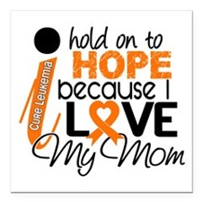 "Hope For My 1 Leukemia Square Car Magnet 3"" x 3"""