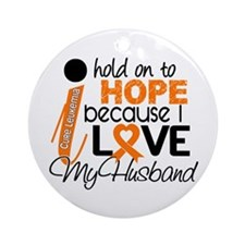 Hope For My 1 Leukemia Ornament (Round)