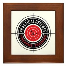 Practical Defense Firearms Training Framed Tile