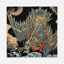 Vintage Hokusai Dragon Queen Duvet