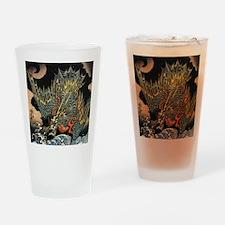 Vintage Hokusai Dragon Drinking Glass