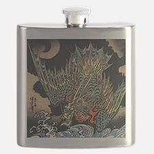 Vintage Hokusai Dragon Flask